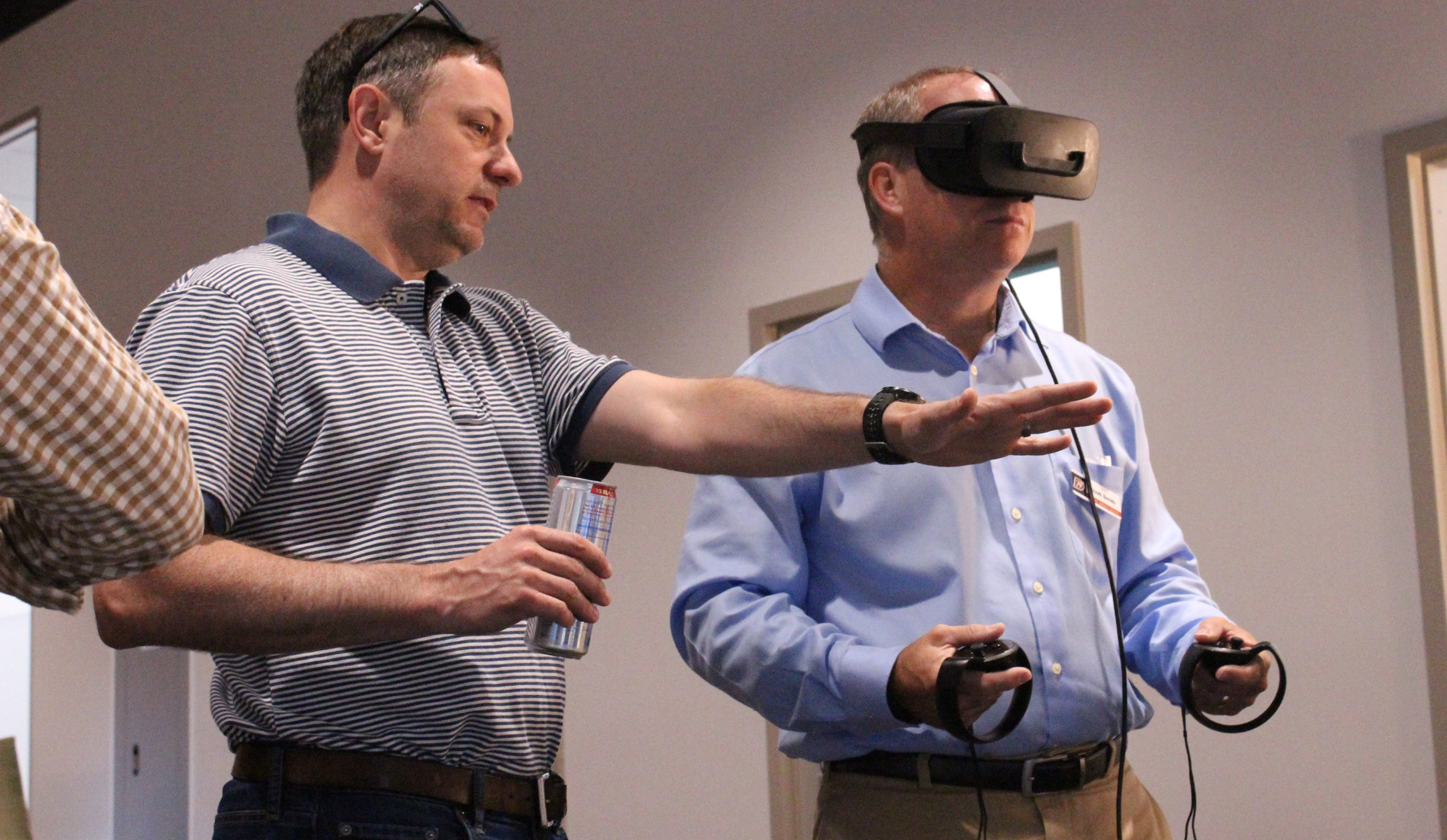 People using a VR Headset at the Doolittle Institute
