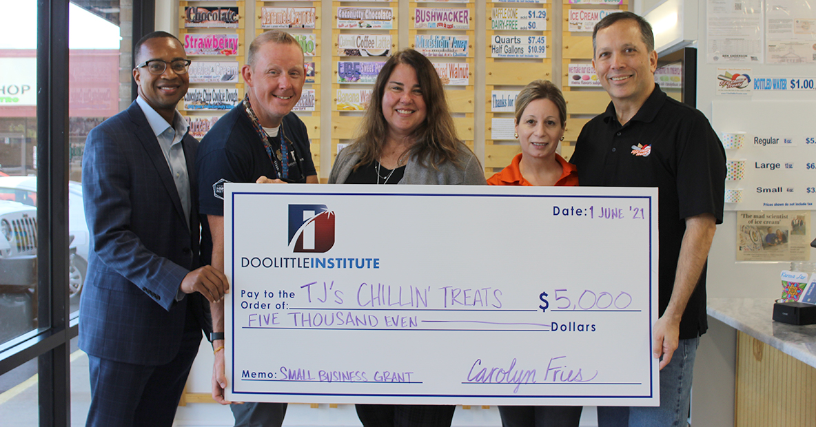 Doolittle Institute awards TJ's Chillin' Treats with 5000$ Small Business Grant